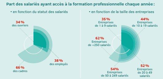 Les salariés et la formation professionnelle. Source : twitter @murielpenicaud